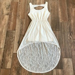 ⭐️ 2/$20 Off White Lace Dress Medium